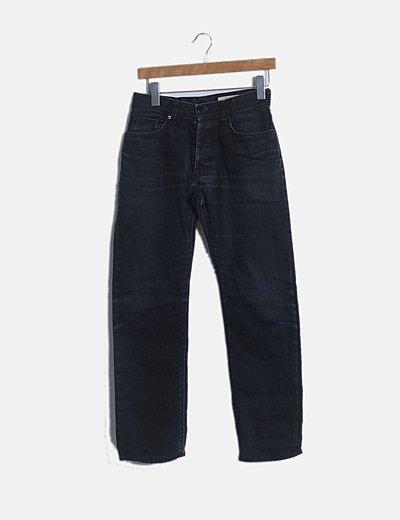 Pantalón denim oscuro recto