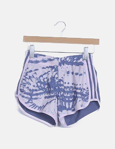 Shorts deportivo estampado lila
