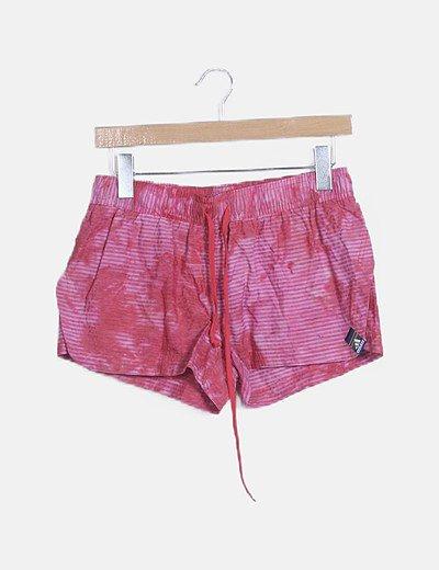Shorts deportivo rayas rosas