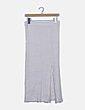 Falda tricot canalé blanca Zara