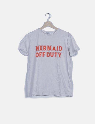 "Camiseta blanca ""Mermaid off duty"""