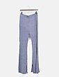 Pantalón canalé gris jaspeado Lavish Alice