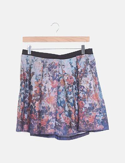 Mini falda floral tablas