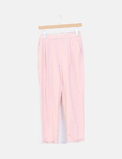 Pantalón pinzas rosa