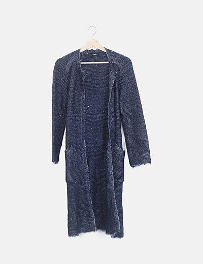 Levita lana azul marino hilos glitter