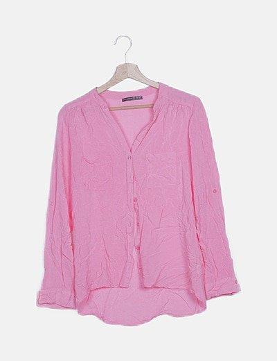 Camisa básica rosa
