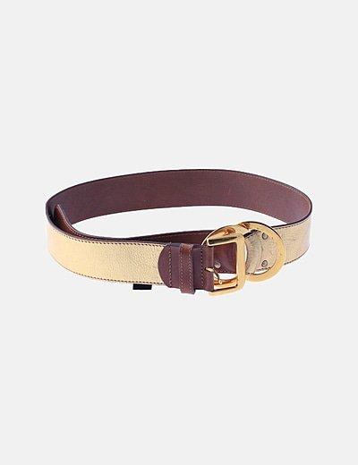 Cinturón ancho dorado