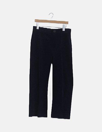 Pantalón pana azul marino