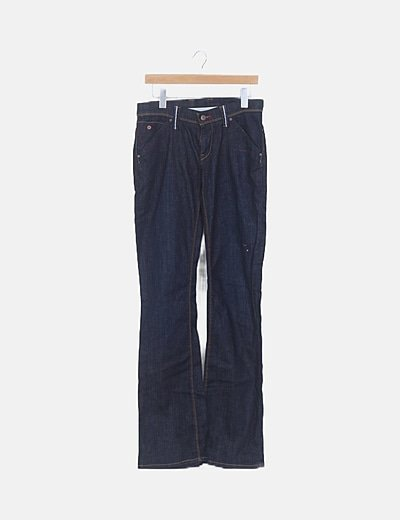 Jeans oscuro campana