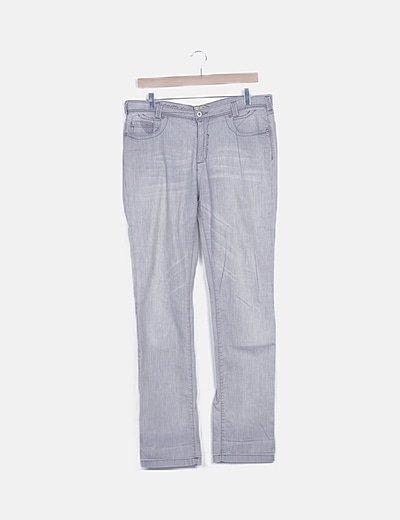 Jeans gris detalle paillettes