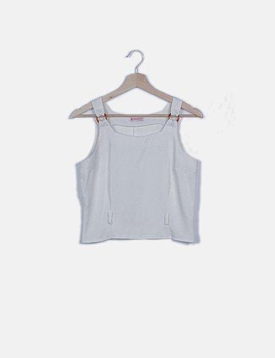 Camiseta blanca detalle carey