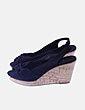 Sandalias cuña peep toe negras H&M