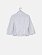 Chaqueta blanca texturizada doble botón Alba Conde