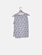 Blusa blanca semitransparente print zorro Zara