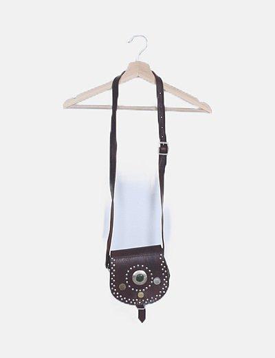 Bolso mini cuero con tachas