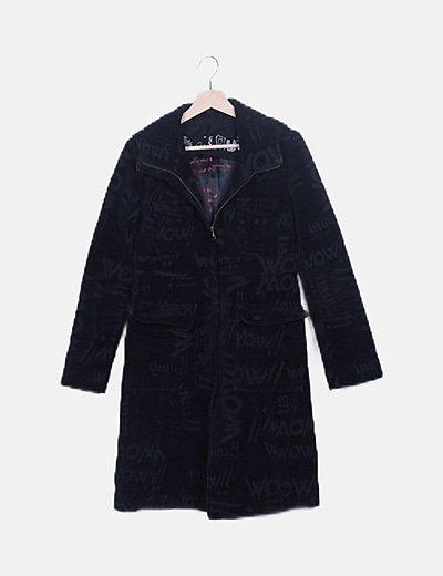 Abrigo negro de pana