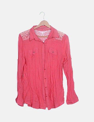 Camisa coral combinada