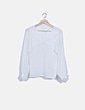 Blusa fluida blanca con aberturas Zara