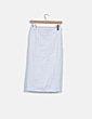 Falda tubo denim blanca con aberturas TPN