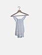 Camiseta blanca crochet espalda lace up Bershka