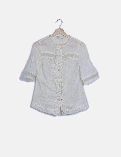 Camisa blanca combinada