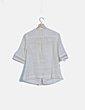 Camisa blanca combinada Massimo Dutti