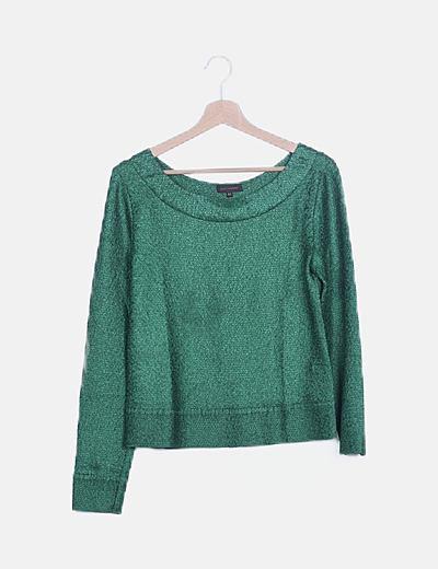 Blusa verde texturizada