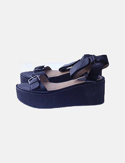 Sandalias negra plataforma