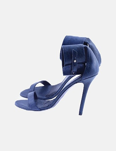 Sandalia texturizada azul