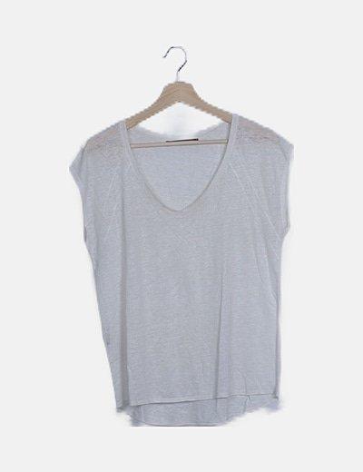 Camiseta hilo blanco