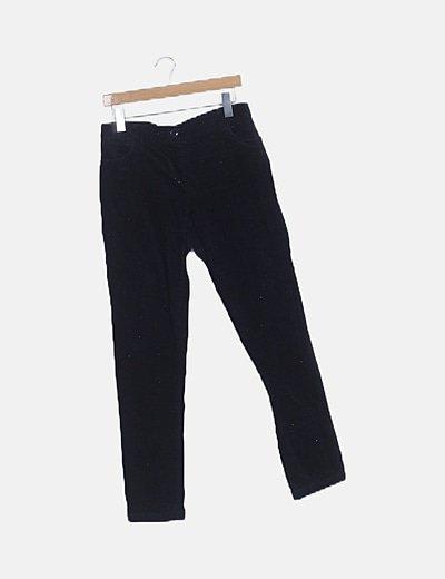 Pantalón recto de pana azul