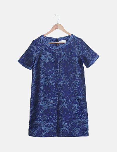 Maxi vestido azul estampado