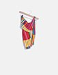 Vestido de rayas multicolor con abertura Fashion Nova