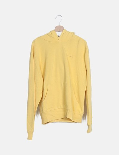 """Sudadera amarilla con capucha """"Diamond"""""""