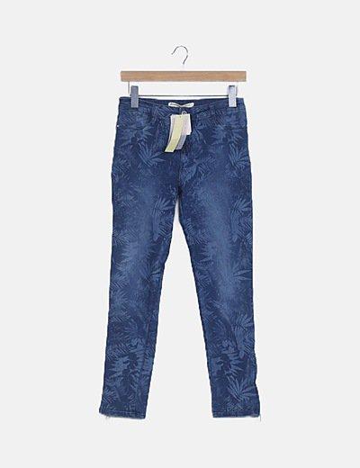 Jeans skinny print floral