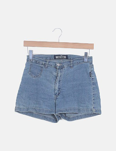 Short denim azul medio