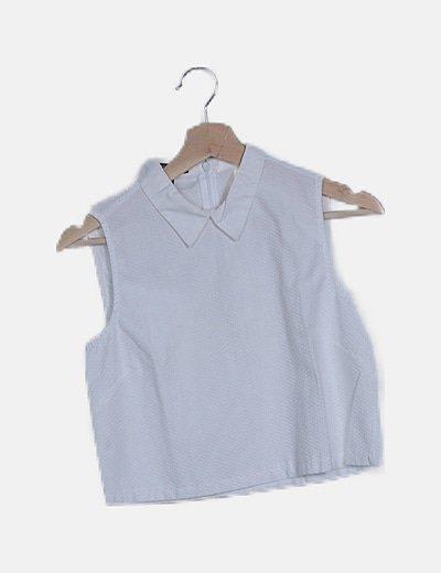 Blusa texturizada blanca