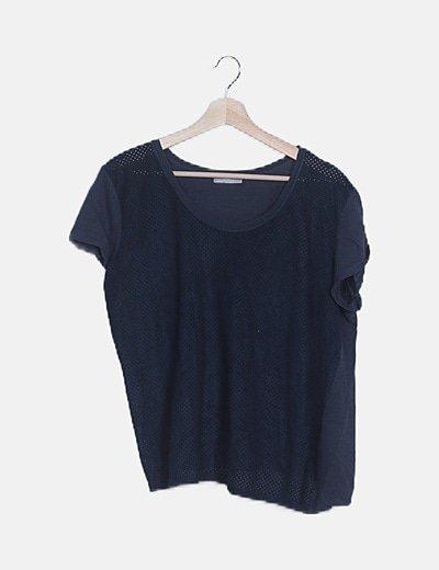 Camiseta manga corta azul petróleo