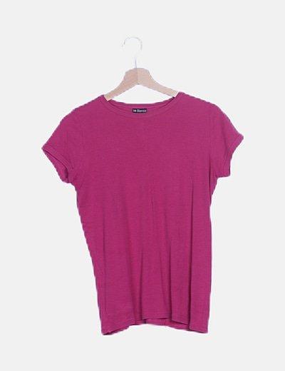 Camiseta rosa manga corta
