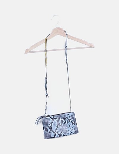 Bolso animal print bicolor