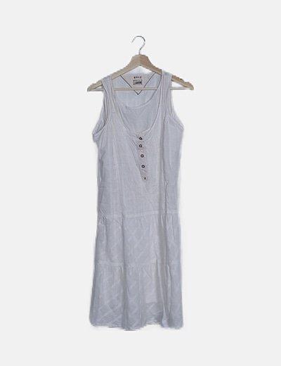 Vestido mini blanco tirantes