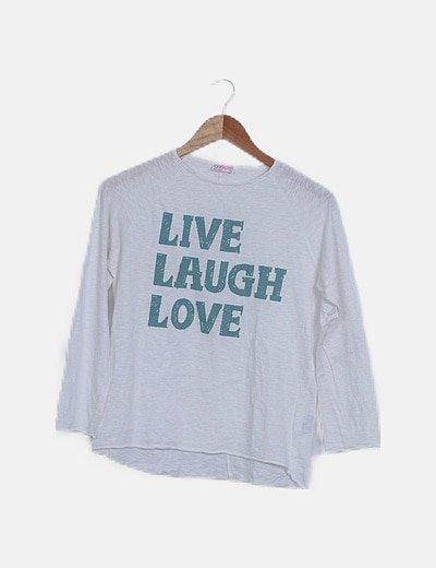 Camiseta blanca letras