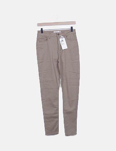 Jeans skinny beige