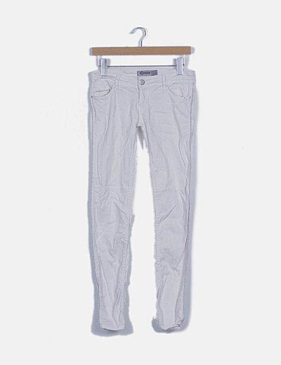 Jeans blanco raya glitter