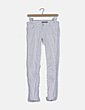 Jeans blanco raya glitter Stradivarius