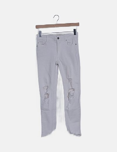 Jeans blanco roto ripped