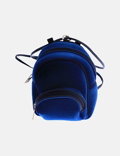 Mochila mini antelina azul petróleo