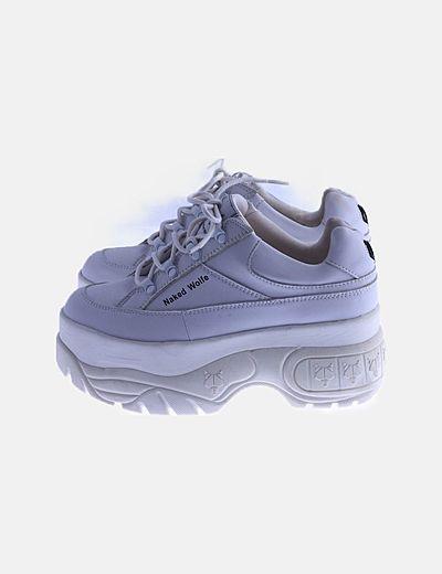 Zapatillas deportivas plataforma blancas