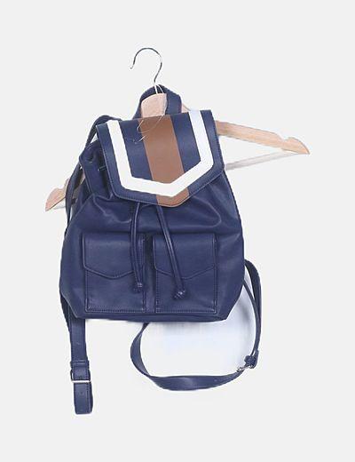 Bolso mochila azul marino