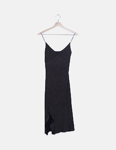 Vestido negro estampado glitter